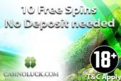 Casinoluck no deposit free spins