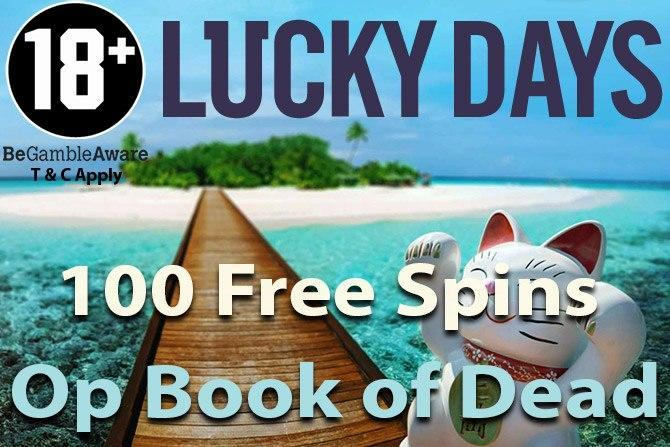Luckydays casino free spins book of dead