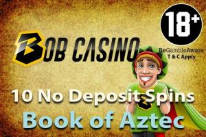 no deposit free spins Bob Casino