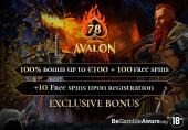 avalon 78 casino met gratis spins